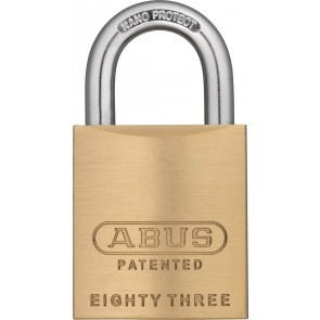 Abus Rekeyable Brass Padlock 83 45 300 S2 W O Shackle