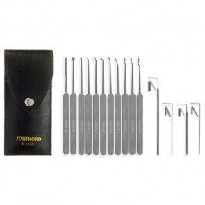 Fifteen Piece Slim Line Lock Pick Set - C1510