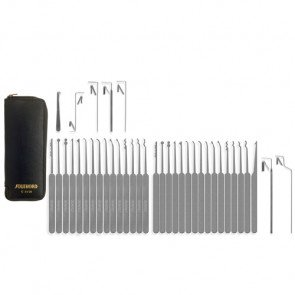 Thirty-Seven Piece Slim Line Lock Pick Set - C3010
