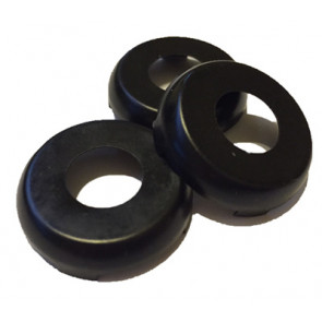 GM Door Lock and Trunk Caps (Black) Set of 3