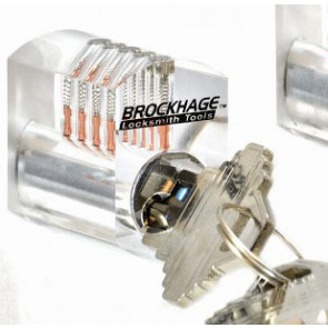 Brockhage Clear Practice Lock (Spool Pins)