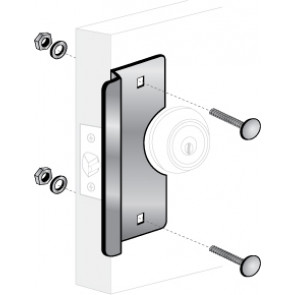 """ELP-200: 6"""" CENTER ROSE LATCH PROTECTOR - BRASS FINISH"""