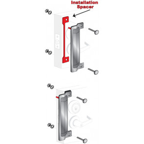 """ELP-240-1: 13"""" x 3-5/8"""" LATCH PROTECTOR - STAINLESS STEEL BULK"""