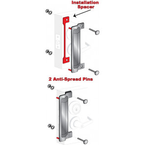 """ELP-240-2: 13"""" x 3-5/8"""" LATCH PROTECTOR - STAINLESS STEEL BULK"""