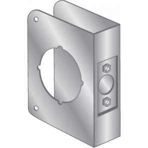 """WRAP PLATE 2-1/8"""" BORE EWP-122-STAINLESS STEEL"""