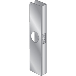 """WRAP PLATE 2-1/8"""" BORE EWP-124-STAINLESS STEEL"""