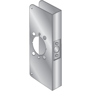 """WRAP PLATE ADA LEVERS 2-1/8"""" BORE - STAINLESS STEEL"""