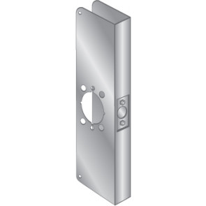 """WRAP PLATE ADA LEVERS 2-1/8"""" BORE - STAINLESS STEEL, EWP-164-CTR"""