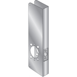 """WRAP PLATE ADA LEVERS 2-1/8"""" BORE - STAINLESS STEEL, EWP-164-S"""