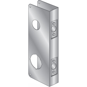 """WRAP PLATE 1-1/2"""" TOP BORE, 2-1/8"""" BOTTOM BORE - EWP-201-STAINLESS STEEL"""