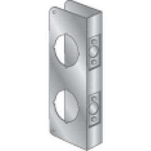 """WRAP PLATE 2-1/8"""" TOP BORE, 2-1/8"""" BOTTOM BORE - STAINLESS STEEL"""