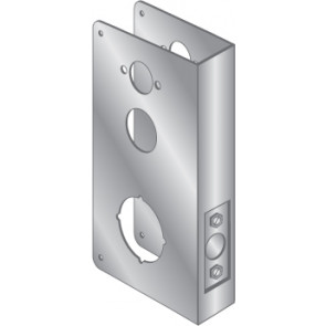 WRAP PLATE FOR SIMPLEX AND KABA FROM KNOB MORTISE - STAINLESS STEEL, EWP-661-S