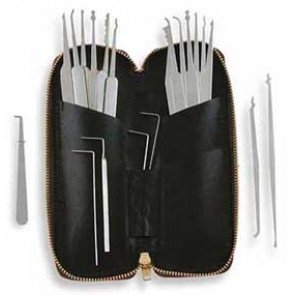 Twenty Piece Lock Pick Set With Metal Handles - MPXS-20