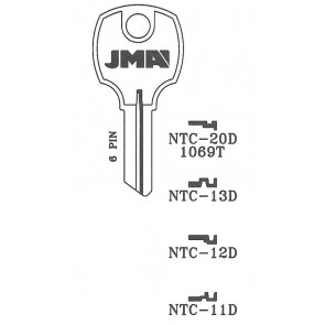 National Cabinet (NTC-12D, D8788) Key Blank NP