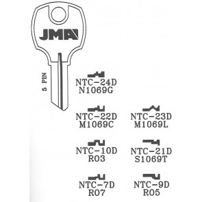 National Cabinet (1069M, NTC-9D) Key Blank NP