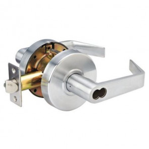 SFIC Commercial Grade-2 Lever Lock, Entry, Brushed Chrome, (w/o cylinder) -by Master Lock