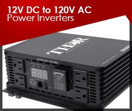 12VDC to 120VAC POWER INVERTERS