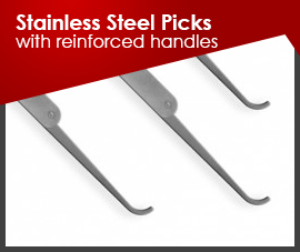 Stainless Steel Picks (with-reinforced-handles)