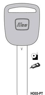 Each Ilco HO03-PT Honda Transponder Key