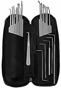 Twenty-Two Piece Slim Line Lock Pick Set - C2010