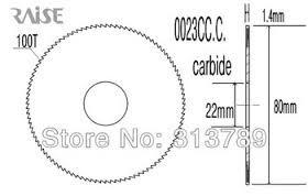 Carbide Slot Cutter for W202A, W100G Wenxing Machines (0023CC)
