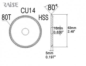 Replacement Cutter for KD14 Machine -by RAISE