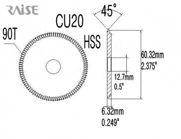 Replacement Cutter CU20