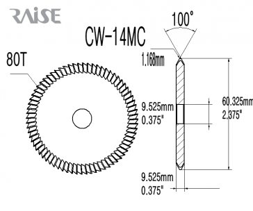 Replacement Cutter CW-14MC