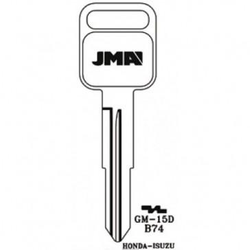 GM Key Blank (B74-NP, GM15D, X198)