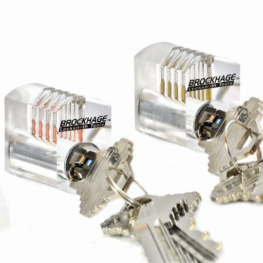 BROCKHAGE® Clear Practice Lock Set