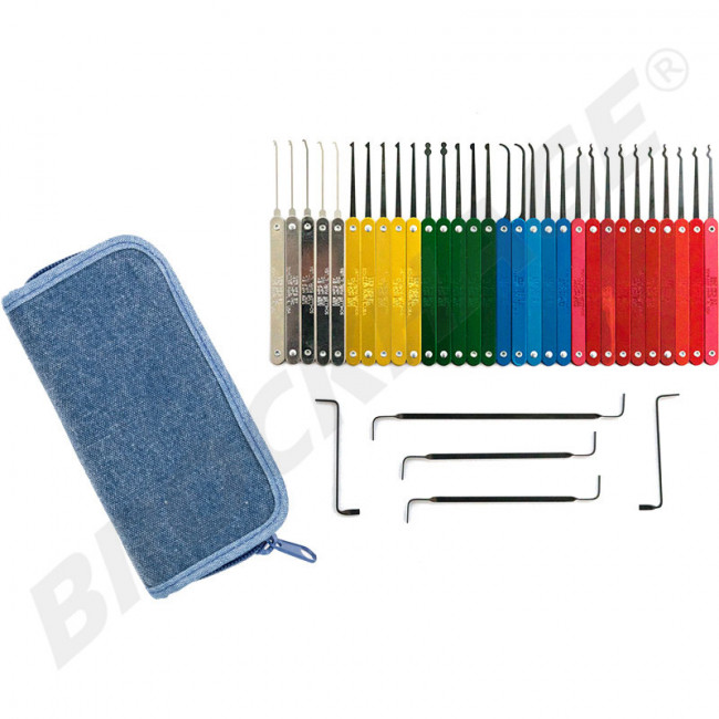 Limited Edition Denim Case Color Coded Pick Set By Hpc