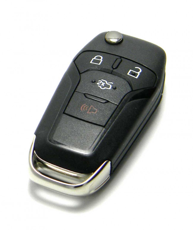 2013 Ford Fusion Key >> Ford (FORD-23) 4 Button Remote Flip Key (Lock, Unlock, Trunk, Panic) 315MHz