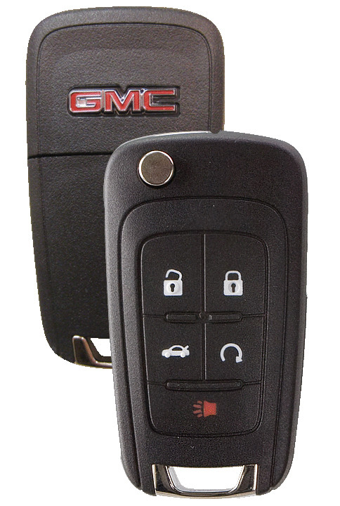 Gmc Terrain 5-button Flip Remote Head Key W   Gmc Logo