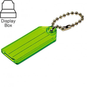 Key Tags w/ Ball Chain Assorted Display Box (100/Box) -by Lucky Line