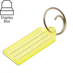 Key Tags w/ Tang Ring Assorted Display Box (100/box) -by Lucky Line