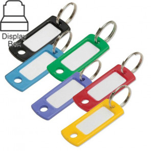 Key Tag w/ Ring Assorted Display Box (200/box) -by Lucky Line
