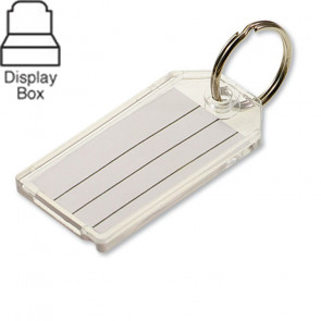 Clear Key Tags Extra Strength Display Box (100/Box) -by Lucky Line