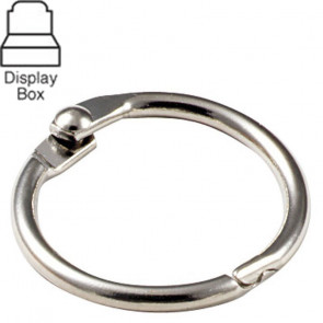 "1"" Metal Binder Ring Display Box (50/Box) -by Lucky Line"