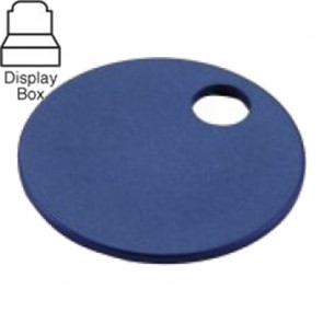 1-1/4″ Blue Aluminum Tags Display Box (100/Box) -Lucky Line