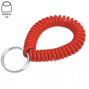 Assorted Neon Wrist Coil w/ Ring (50/Jar) -by Lucky Line