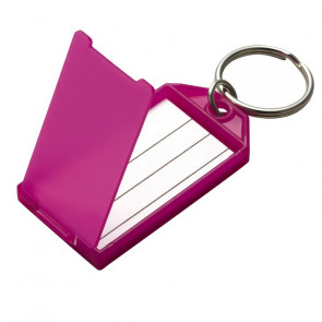 Assorted Key Tag w/ Flap & Split Ring (100/Display Box) -by Lucky Line