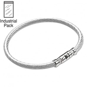 Clear Locking Cable Key Ring (25/PK) -Lucky Line