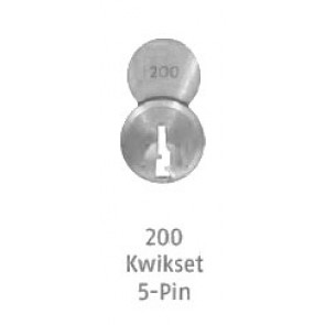 ABUS 8302 S2-200 Kwikset Chrome Plated Brass Cylinder Only