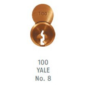 ABUS 8302 83 S2-100 Yale 8 Brass Cylinder Only
