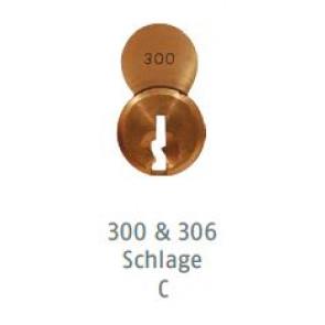 ABUS 8302 83 S2-300 Schlage C Brass Cylinder Only
