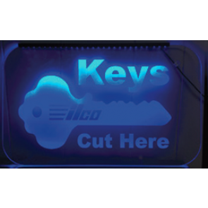 """Keys Cut Here"" Ilco Sign"