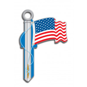 Key Shapes KW American Flag (5/Box) -by Lucky Line