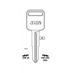 GM Key Blank (B69-NP, GM 29D, X180)