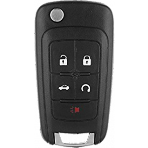 Chevrolet 5-Button Flip Remote Head Key (OHT01060512) w/ Auto Start 315 Mhz -by Kee-Co