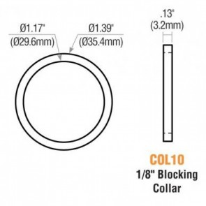 "1/8"" Blocking Ring (Satin Chrome) 10PK -by GMS"